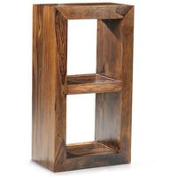 Cube Sheesham 2 Hole Bookcase