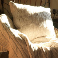 Lambswool Cushion - Beige