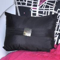 Taffeta Silk Cushion Cover +Mother of Pearl Button