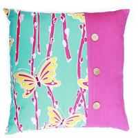 Golden Butterflies Cushion