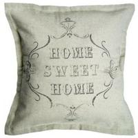 "Cushion ""Home Sweet Home"" - Natural Cotton"