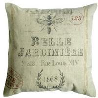"Rustic Cotton Cushion French-Look ""BELLE JARDINIERE"""