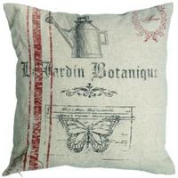 "French Look Cotton Cushion ""Le JARDIN BOTANIQUE"""