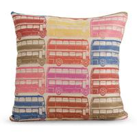 Decker Large Square Cushion, 50 x 50cm Bus Print