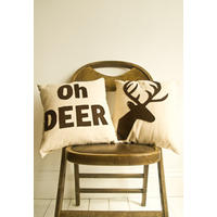 Oh Deer - Set of Two Companion Cushions.  Doe!