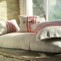Rustic Linen Long Cushion
