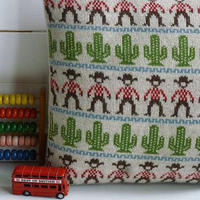 Knitted Lambswool Cowboy Cushion