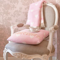 Queen of Hearts Cushion in Pink & White