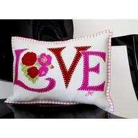 Jan Constantine Mini Cream Love Cushion