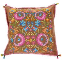 Pip Studio - Folklore Embroidered Cushion - Khaki - 45cm x 45cm