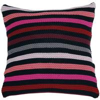 Sonia Rykiel Maison - Desirable Knitted Striped Cushion - Fuchsia