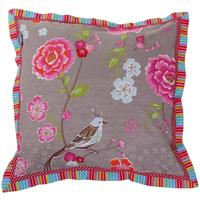 Pip Studio - Birds in Paradise Square Cushion - Khaki - 45cm x 45cm