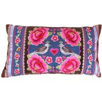 Pip Studio - Birds Multi Flower Cushion - Denim - 30x50cm
