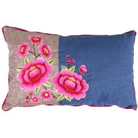Pip Studio - Multi Flower Cushion - Denim - 30x50cm