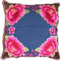Pip Studio - Four Flowers Cushion - Denim - 45x45cm