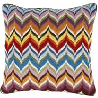 Jonathan Adler - Bargello Multi Flame Cushion - 50x50cm