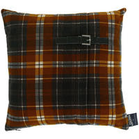 Jean Paul Gaultier - Tartan Twiggy Cushion - Gold - 40x40cm