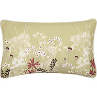 John Lewis Meadow Cushion Green/Magenta