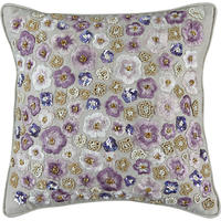 John Lewis Loretta Sequin Cushion Cassis