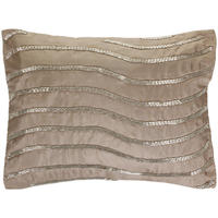 Gingerlily - Silk Taupe Wave Cushion - 30 x 40cm
