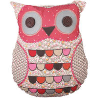 Patchwork Owl Cushion Pink Ditsy