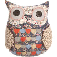 Patchwork Owl Cushion Blue Priscilla
