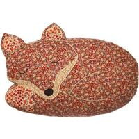 Patchwork Sleeping Fox Cushion with Inner
