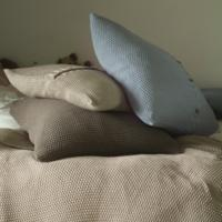 Stone Cotton Cushion from Daisy West