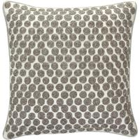 Gingerlily - Embroidered Silver Disks Cushion - 30 x 30cm