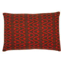 Seven Gauge Studios - Alpine Knitted Cushion - Inferno/Beaver - 45x30cm