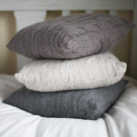 Lambswool Cushion - Grey