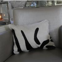 'Zebra' Cowhide Cushion - ZEB03