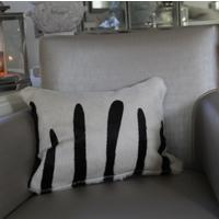 'Zebra' Cowhide Cushion - ZEB04