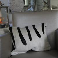 'Zebra' Cowhide Cushion - ZEB05