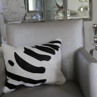 'Zebra' Cowhide Cushion - ZEB06 - 50% OFF