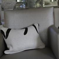 'Zebra' Cowhide Cushion - ZEB07