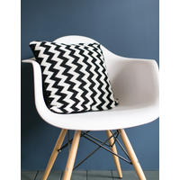 Monochrome Chevron Knitted Cushion