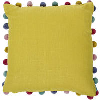 Bluebellgray - Pom Pom Cushion - Saffron