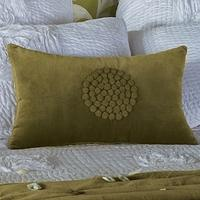 Chartreuse Velvet Cushion