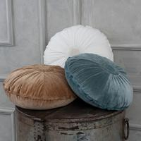Embroidered Round Velvet Cushions