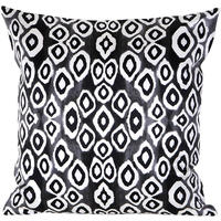 Mariska Meijers - Coco Ikat Cushion Cover - Black - 40x40cm