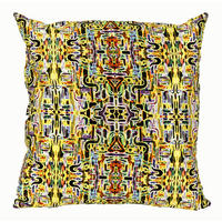 Mariska Meijers - Jungle Fever Cushion Cover - Yellow - 40x40cm