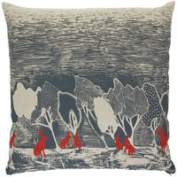Orwell and Goode - Night Woods: Red Hares Cushion - 18inch