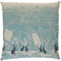 Orwell and Goode - Night Woods: Hares in Blue Cushion - 18inch