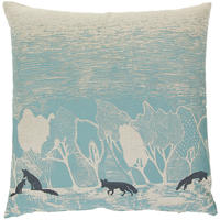 Orwell and Goode - Night Woods: Foxes in Blue Cushion - 18inch