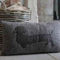 Brown Dachshund Cushion with Pad - 50% OFF