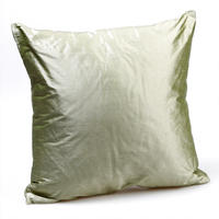 Silk Cushion Moss Green