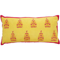 Pip Studio - Embroidery Trees Yellow Cushion - 30x60cm