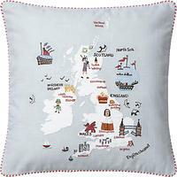 John Lewis British Isles Cushion