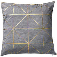 Bloomingville - Diagonal Print Cushion - Gold